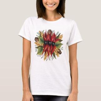 Australian Wildflowers - Sturt Desert Pea T-Shirt