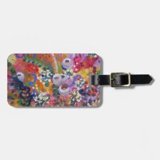 Australian wildflowers travel bag tags