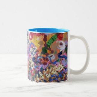 Australian wildflowers Two-Tone coffee mug