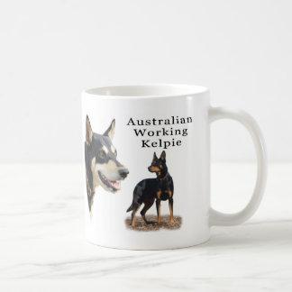 Australian Working Kelpie - Black and Tan Classic White Coffee Mug