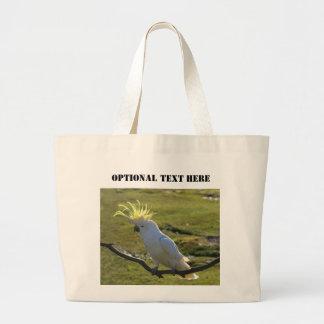 Australian Yellow Sulphur Crested Cockatoo Large Tote Bag