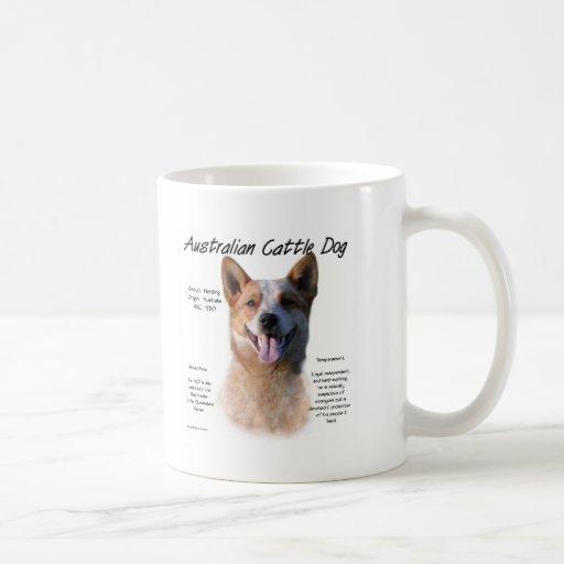AustralianCattle Dog (redspec) History Design Mug