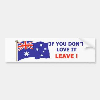 Australiano - ámelo pegatina para auto