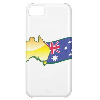 Australiano australiano de la bandera y del mapa