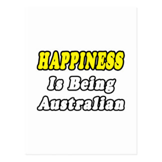 Australiano de la felicidad… tarjeta postal