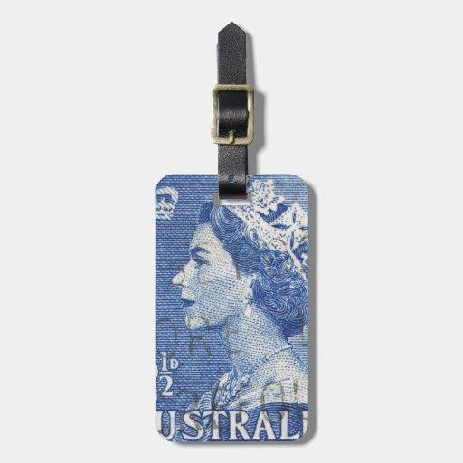 Australiano de la reina Elizabeth Australia del Etiquetas Maleta