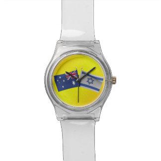 Australiano de LuvIsrael y bandera de Israel Relojes De Mano