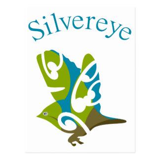 Australiano de Silvereye y pájaro de Nueva Zelanda Tarjeta Postal