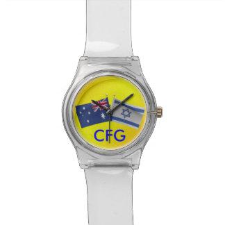 Australiano del monograma y reloj de la bandera de
