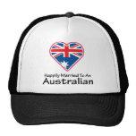 Australiano feliz casado gorras