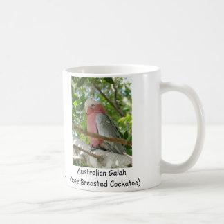Australiano Galah Cockatoo color de rosa de Breas Taza