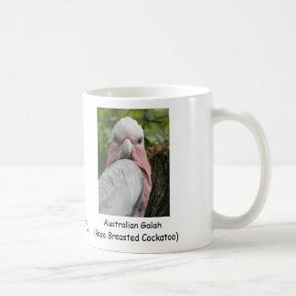 Australiano Galah Cockatoo color de rosa de Breas Taza De Café