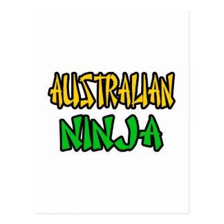 Australiano Ninja Tarjeta Postal