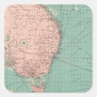 Australiano, puertos de Nueva Zelanda Calcomania Cuadradas Personalizada
