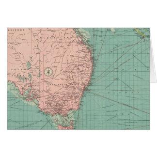 Australiano, puertos de Nueva Zelanda Tarjeta