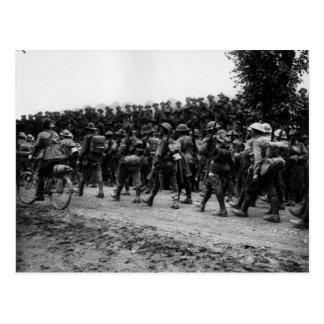 Australianos en el Somme Tarjeta Postal