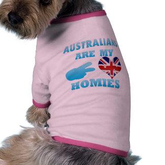 Australians are my Homies Pet Shirt