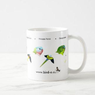 Australia's rarest parrots, www.bird-o.com classic white coffee mug