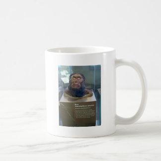 Australopithecus afarensis; museum exhibit. coffee mug