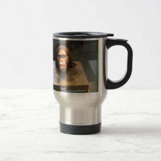 Australopithecus africanus; museum exhibit 15 oz stainless steel travel mug