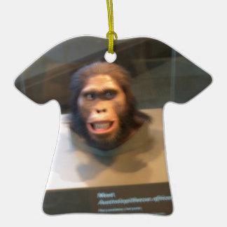 Australopithecus africanus; museum exhibit Double-Sided T-Shirt ceramic christmas ornament