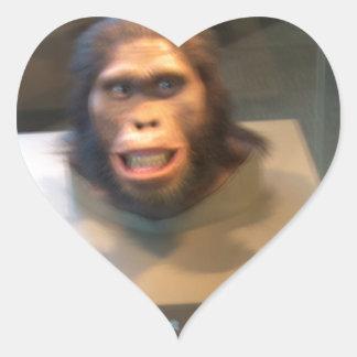 Australopithecus africanus; museum exhibit heart sticker