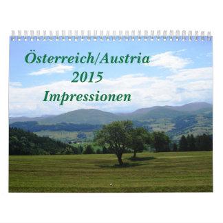 Austria 2015 Impressionen Wall Calendars