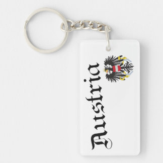 Austria and Coat of Arms Acrylic Key Chain