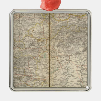 Austria Atlas Map Christmas Ornaments