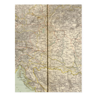 Austria Atlas Map Postcard