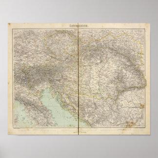 Austria Atlas Map Print