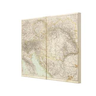 Austria Atlas Map Stretched Canvas Prints