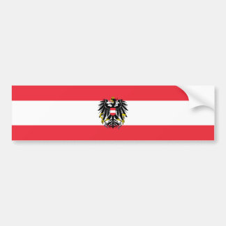 Austria/Austrian Flag Car Bumper Sticker