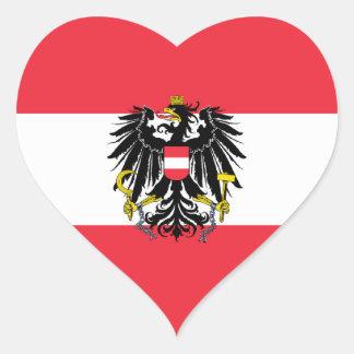 Austria/Austrian Flag Heart Sticker