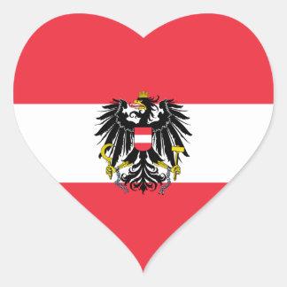 Austria/Austrian Heart Flag Heart Sticker