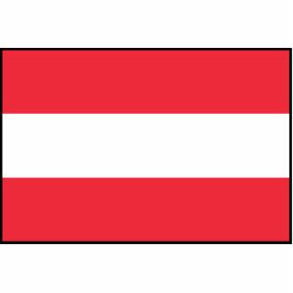 Austria - bandera austríaca fotoescultura vertical