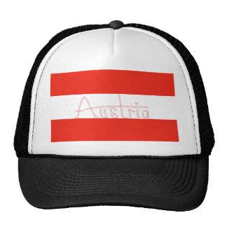 Austria - bandera y escritura gorro