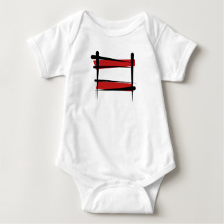 Austria Brush Flag Baby Bodysuit