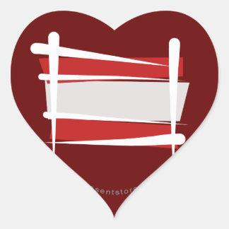 Austria Brush Flag Heart Sticker