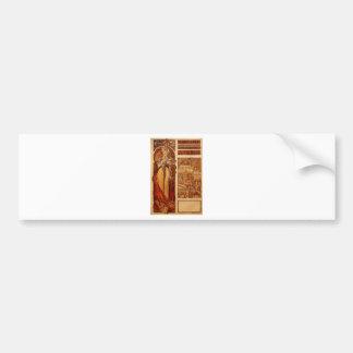 Austria by Alphonse Mucha Bumper Sticker