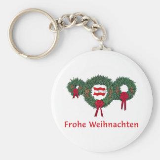 Austria Christmas 2 Basic Round Button Keychain