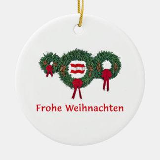 Austria Christmas 2 Ceramic Ornament