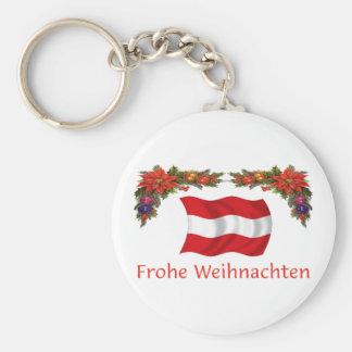 Austria Christmas Basic Round Button Keychain