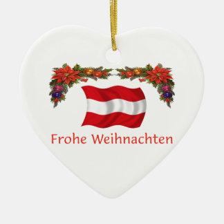 Austria Christmas Ceramic Ornament