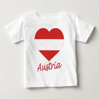 Austria (civil) Flag Heart T Shirt