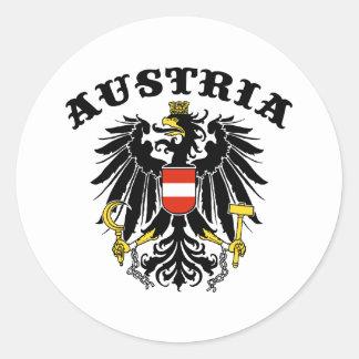 Austria Classic Round Sticker
