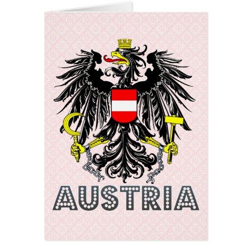 Austria Coat of Arms Card