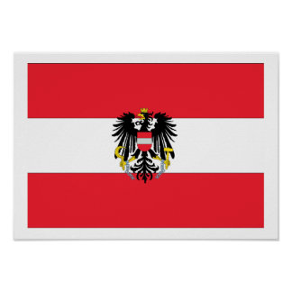 Austria Coat of Arms Flag Posters