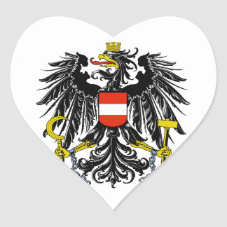 Austria Coat of Arms Heart Sticker