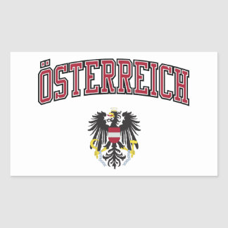 Austria + Coat of Arms Rectangular Sticker